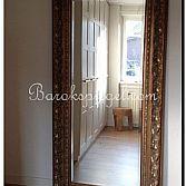 Barok brocante spiegel groot antiekgoud zilver zwart of wit for Barok spiegel groot