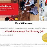 Bas Willemse behaalt Cloud Accountant Certificering (NL) van Exact