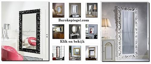 Barok spiegels antiek zilver goud zwart wit groot aanbod for Barok spiegel groot